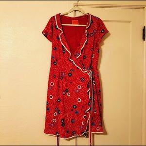 ModCloth Floral Wrap Dress - Size 1x